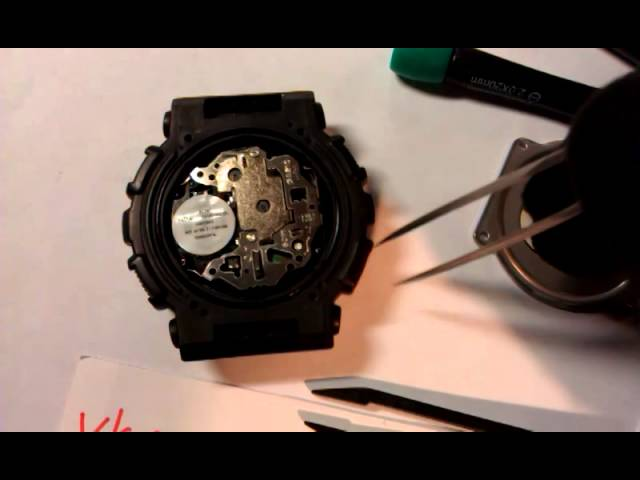 Замена батарейки на Casio G-Shock GA-100, battery replacement on Casio G-Shock GA-100